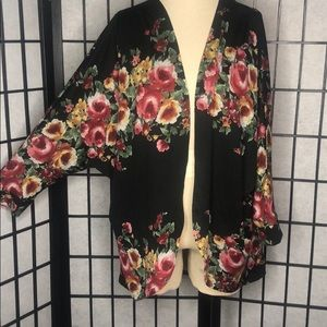 Open Floral Cardigan